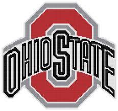 University Logo Embroidery Designs Counted Cross Stitch Pattern Ohio State Buckeyes Logo