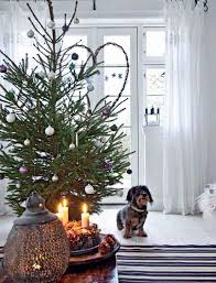 rustic decorated scandinavian christmas decor trees decorating