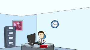 Cartoon Office Man In Office Typing Cartoon Motion Background Storyblocks Video