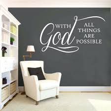 wall decal letters for nursery religious vinyl wall lettering with all things are possible room