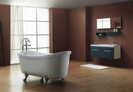 Dark Red Bathroom Dark Red Walls And Wooden Flooring For Bathroom Download 3d House