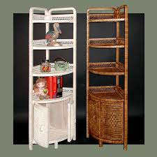 Wicker Corner Shelves CORNER COFFEE BAR cabinet door shelf Wicker Standing Corner 1