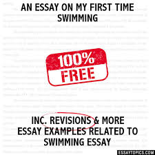 essay on my first time swimming an essay on my first time swimming
