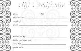 free gift certificates printable por free blank gift certificate templates