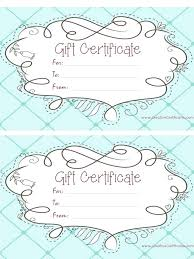 Gift Certificates Samples Unique Hair Salon Gift Certificate Templates Design And Print Certificates