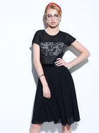 Online Get Cheap Patchwork Short Sleeve Knee Length Black Dress