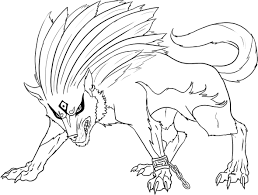 Free Printable Wolf Coloring Pages For Kids Within Werewolf Adults