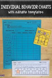 Individual Behavior Charts With Editable Templates