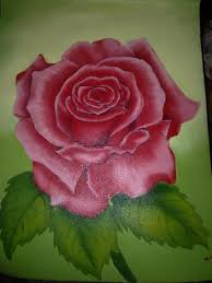 rose flower in oil color in painting by manisha chaudhary