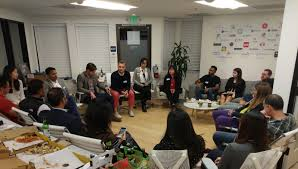 roundtable with guests from companies like deloitte ibm capital one chronicled bittiger dhvc ride ventures and streetedge capital in palo