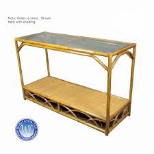 rattan console table. Rattan Console Table A