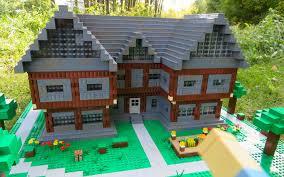 Lego Full House Lego Minecraft Steves House Youtube