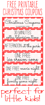 printable kids christmas coupon books christmas coupon book for kids printable