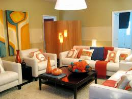Orange Color Combinations For Living Room How To Decorate A Living Room On A Budget Four Legged Dark Brown