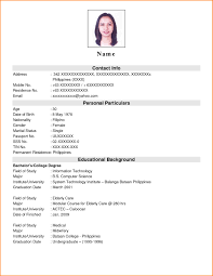 Gallery Of Examples Of Resumes Resume Example Simple Format Doc In