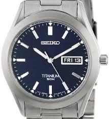 seiko men s sgg709 titanium watch bossman watches