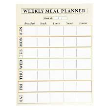 Weekly Meal Planer Juvale Dry Erase Weekly Meal Planner 6 Pack Self Adhesive Large Weekly Menu Board For Refrigerator Meals And Snacks Whiteboard 14 5 X 11 Inches