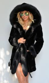 chinchilla furs black chinchilla rex fox fur coat by lafuria