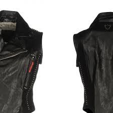 arrow women black leather vest 89yyuyiuwe