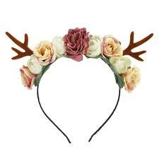 2019 reindeer antlers headband easter party diy women girs kid deer ear party hairband wedding jewelry gift prom hair accessories pearl
