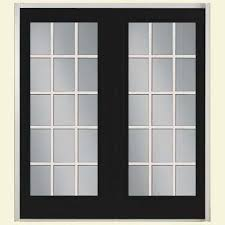 door patio. Prehung 15 Lite Fiberglass Patio Door With No Brickmold In Vinyl Frame Door Patio