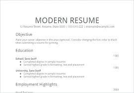 Simple Resume Letter – Businessdegreeonline.co