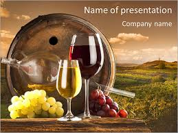 Wine Powerpoint Template Wooden Barrel With Wine Powerpoint Template Backgrounds Google