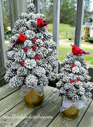 diy trees for your home pine cone 3