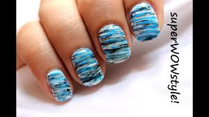 Cool And Simple Nail Designs Cool Blue Fanning Brush Easy Nail Designs For Beginners