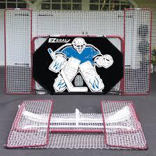 ez goal folding hockey training goal net w backstop targets shooter tutor com