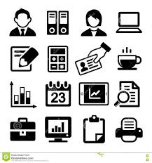 Office Icons Set Stock Vector Illustration Of Folders 36115477