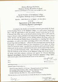 Appointment Letters Simple John McLeod's Official Letter Of Appointment As Rajvanshi