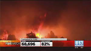 Tamarack Fire Grows To 67,000 Acres And ...