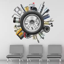 car parts wheel wall sticker transport garage wall decal boys bedroom home decor