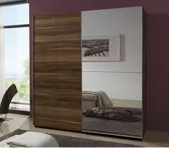 Sliding Mirrored Closet Doors For Bedrooms Mirror Bedroom Romalux Walnut With Mirror Sliding Wardrobe