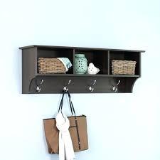 Oak Coat Rack With Baskets Enchanting Coat Hook Storage Baskets Hallway Wall Storage Unit Coat Hooks Hook