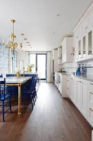 sarah richardson s royal blue gold and white kitchen the inspired room