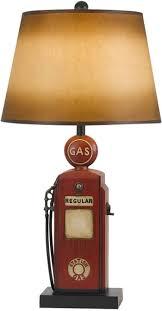 cal lighting bo2729tb nostalgic gas pump table lamp rustic table lamps67