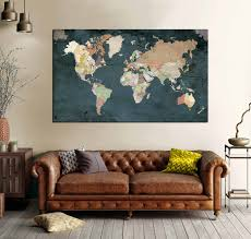 highly detailed world map art world map wall art world map large world map canvas world map print world map detailed push pin map map