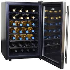 newair 28 bottle wine cooler. Unique Newair NewAir AW281E Classic 28 Bottle Thermoelectric Wine Cooler  Stainless  Steel Inside Newair