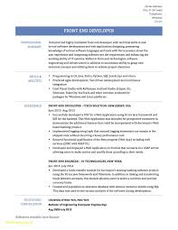 Front End Developer Sample Resume Ui Developer Resume Free Download Front End Developer Resume 2