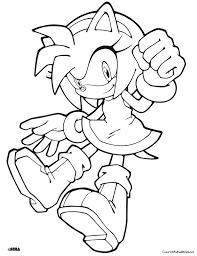 Sonic Coloring Page Of Sonic The Hedgehog Coloring Page Pic Sonic