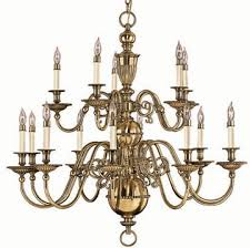 hinkley 4417bb cambridge brass 15 light 2 tier candle chandelier hin 4417bb