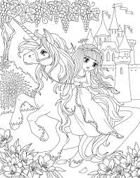 595 x 841 file type: Unicorn Princess Coloring Pages Page 1 Line 17qq Com