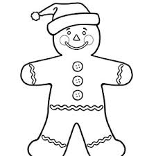 43 Christmas Gingerbread Man Coloring Pages Cute Gingerbread Man