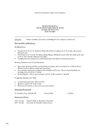 Objective For Resume For High School Student How To Write A
