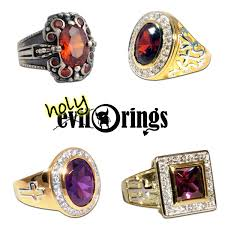 gold plated sterling silver bi rings