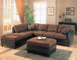 harold collection chocolate two tone sectional