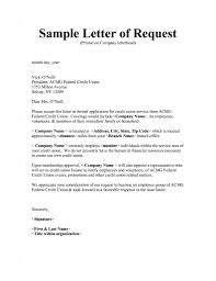 Sample Letter Of Request How To Format Cover Letter