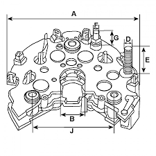 Illustration wiring diagram hitachi replacement alternator rectifier diodes with trio yanmar l